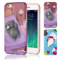 Squishy 3D Cute Animal Seal Soft TPU Gel Case Cover For iPhone6/6S Plus 5.5inch