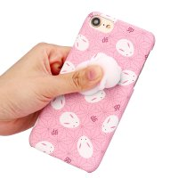Squishy 3D Animal Cute Rabbit PC Hard Shell Case Cover For iPhone 7 4.7 inch