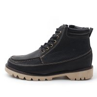 Korean trendy casual comfort men boots shoes men ankle boots [4.5 cm] snake patterns duo 1757982. 1