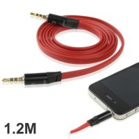 Noodle Style Aux Audio Cable 3.5mm Jack Earphone Cable for Monster Bea