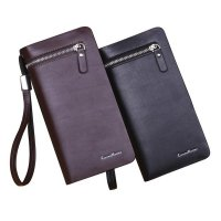 Men Wallets Leather Card Cash Receipt Holder Organizer Wallet 3-Fold Purse