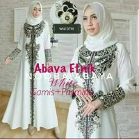 Exclusive Abaya Etnik Gamis Jubah Dress Arab Bordir Tur