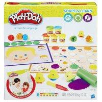 Play Doh Shape and Learn Letters and Language Playdoh