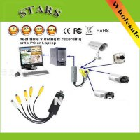 [globalbuy] 4 Channel USB 2.0 video capture card of DVR CCTV Digital Video Camera Recorder/4973950