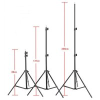 Portable Light Stand Tripod 3 Section 200cm for Studio Lightning - Black