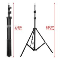 Portable Light Stand Tripod 180cm for Studio Lightning - W803 - Black