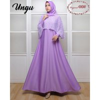 119506 GAMIS PESTA NEW OLIVIA ODF SOFT PURPLE