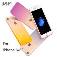 [globalbuy] JIANYI Case for iPhone 6 s 6s transparent gradient colorful mobile phone cases/5352037