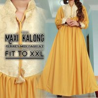 MAXI DRESS PESTA SIMPLE JUMBO / BIGSIZE GAMIS KAFTAN