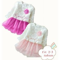 2 warna dress anak cewe murah | jual baju anak | VH76dbpmk - dress brukat party marry fit 2-3 th