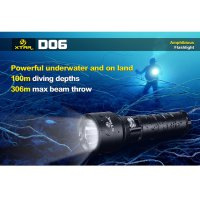 Xtar D06 Diving Senter Waterproof LED CREE XM-L2 U2 900 Lumens
