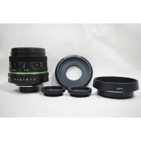 Lensa 35mm f/1.6 APS-C CCTV GREEN RING C - Mount Lens - Adapter Hood