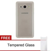 Case Samsung Galaxy J5 2016 /J510 TPU Ultra Thin (Grey) Free Tempered Glass