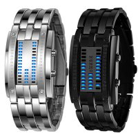 Luxury Men's Stainless Steel Date Digital LED Bracelet Sport Watches