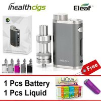 Eleaf Istick Pico 75W FULL KITS + Free 1Pc Battery & 2 Pcs E-Liquids (Abu Abu)