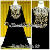 Abaya gamis bordir india 23