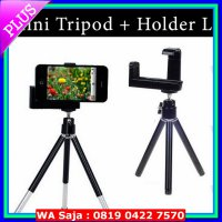 (Mount Handphone) Mini Tripod Fly Stand Mobile Holder L for HP Smartphone / Handphone