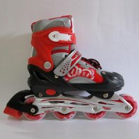 Sepatu Roda (Size M) Inline Skate POWER SUPERB Red/ SIZE 31-35