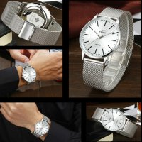 WWOOR 8832 Jam Tangan Formal Pria Model Klasik Gaya Maskulin - Water Proof - Luminous - WHITE