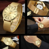 WWOOR 8832 Jam Tangan Formal Pria Gaya Maskulin - Water Proof - Luminous - GOLD