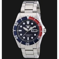 Seiko 5 SNZF15 Chain Silver Blue Red Bezel Original For Man Limited