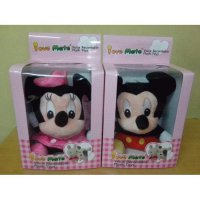 Boneka Rekam Couple Pasangan Mickey Minnie Mouse Recorded Toys Mainan Anak Kado Ulang tahun spongebob patrick stitch bear doggy SJ0104