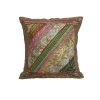 Sarung Bantal Kursi india - Dekorasi bordir & Payet 620493.10 - Gold