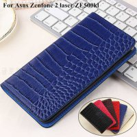 [globalbuy] Luxury Flip Case For Asus Zenfone 2 laser ZE500kl Leather + TPU Wallet Cover F/4989620
