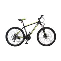 Vivacycle Alloy Shimano 21 Speed L3111 Sepeda Gunung MTB Apex 660 - Black Green [26 Inch]