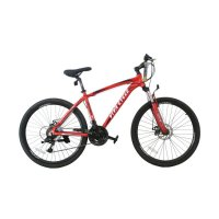 Viva Cycle L3111 Exposed - 660E Alloy MTB Shimano 21sp Sepeda Gunung - Red [26 Inch]