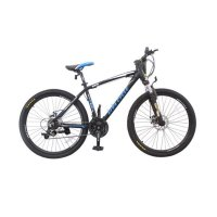 Viva cycle L3111 Track 665 Alloy MTB Shimano 21sp Sepeda - Matt Black [26 Inch]