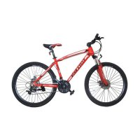 Viva Cycle L3111 Zenox-660 Alloy MTB Shimano 21sp Sepeda - Red [26 Inch]