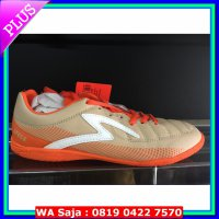 Sepatu futsal specs original Cherokee in ice cofee/red rose/white