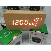 Jam Meja Digital Led Weker / Digital Wood Alarm