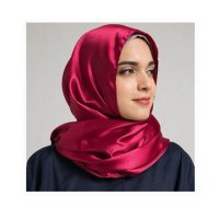 Red Satin Hijab