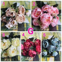 artificial flower crown G bunga peony bunga palsu hiasa