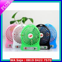 Kipas Angin Mini Listrik USB Portable Mini Fan Recharge Charge Senter