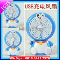 (Kirim Sore Ini) Kipas angin USB/mini fan portable USB doraemon Rechargeable