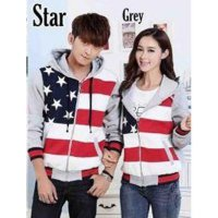 Jaket Couple 5 Star Gray Jaket Couple / Baju Pasangan / Resleting