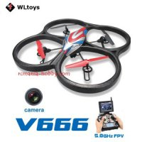 Drone Camera WL V666 5.8G FPV 6 Axis Headless HD 2MP Monitor RTF