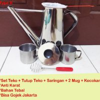 EM Grosir Set Teko Thai Tea + 2 Mug + Saring + Kocokan