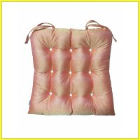 The Luxe Chairpad Bantal Kursi - Orange Metalic Gold
