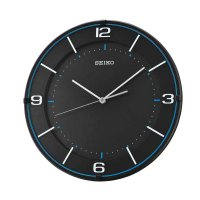 SEIKO QXA690K Quiet Sweep Wall Clock Jam Dinding - Blue Black [32 cm]