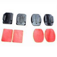 Mount Curved & Flat Mount for Action Camera Gopro Xiaomi SJCam Bpro