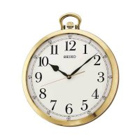 Seiko QXA633G Quiet Sweep Wall Clock Jam Dinding - Gold [35 cm]