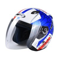 INK #10 CENTRO JET Helm Half Face - White Red Blue