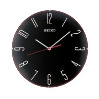 SEIKO QXA672K Quiet Sweep Jam Dinding - Black [30 cm]
