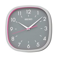 Seiko QXA590S Quiet Sweep Wall Clock Jam Dinding - Grey Pink [31 cm]