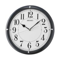 SEIKO QXA637K Quiet Sweep Wall Clocks Jam Dinding - Black [32 cm]