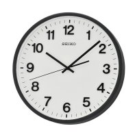 Seiko QXA640K Quiet Sweep Wall Clock Jam Dinding - Black [30.5 cm]